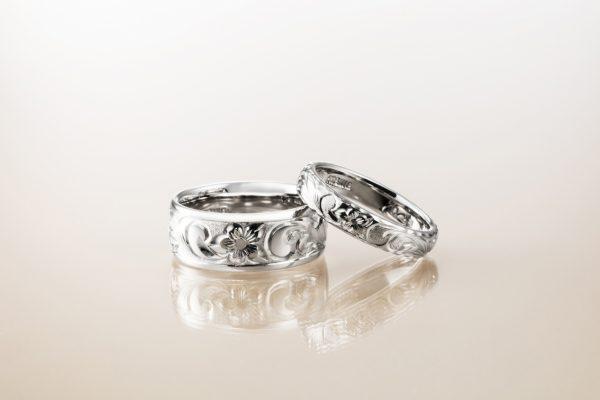 新潟で人気の結婚指輪(マリッジリング)と婚約指輪(ダイヤモンドエンゲージリング)ハワイアンジュエリーMakana(マカナ)| 本格派手彫りで刻む、新潟カップルに人気の結婚指輪(マリッジリング)Makana(マカナ)