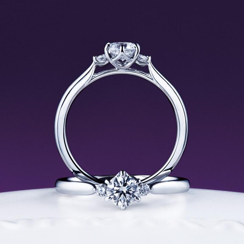 新潟で人気の結婚指輪と婚約指輪 にわか(ニワカ)   新潟で人気の婚約指輪(エンゲージリング)ブランド にわか(ニワカ)の「白鈴」