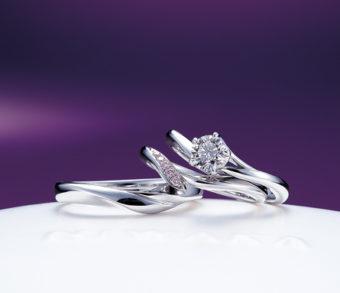 新潟で人気の結婚指輪と婚約指輪 にわか(ニワカ) | にわか(ニワカ)エンゲージメントリング初桜 初々しさは薄紅の桜のごとく