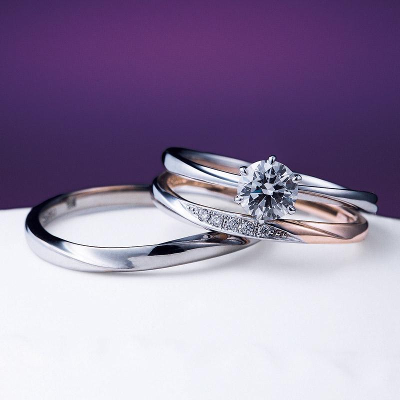 新潟で人気の結婚指輪(マリッジリング)と婚約指輪(ダイヤモンドエンゲージリング)俄(にわか) | にわか(ニワカ)花雪HANAYUKI