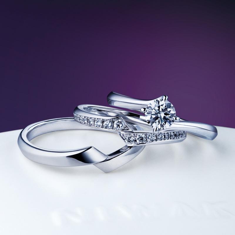 新潟で人気の結婚指輪と婚約指輪 にわか(ニワカ) | にわか(ニワカ)柊(婚約指輪)・綾(結婚指輪)