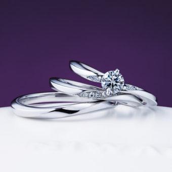新潟で人気の結婚指輪と婚約指輪 にわか(ニワカ) | エレガントな雰囲気が魅力のウエーブデザイン