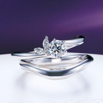 新潟で人気の結婚指輪と婚約指輪 にわか(ニワカ) | にわか(ニワカ)月のダイヤモンドエンゲージリング