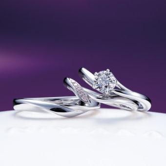 新潟で人気の結婚指輪と婚約指輪 にわか(ニワカ) | 桜の枝に見立てた婚約指輪、にわか初桜(ういざくら)