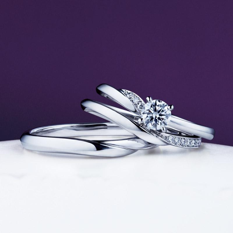 新潟で人気の結婚指輪(マリッジリング)と婚約指輪(ダイヤモンドエンゲージリング)俄(にわか) | 新潟サプライズプロポーズをダイヤモンドエンゲージリングで演出!