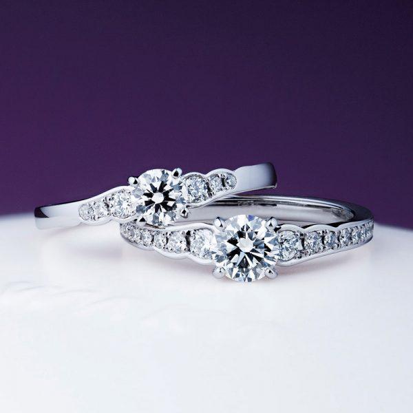新潟で人気の結婚指輪(マリッジリング)と婚約指輪(ダイヤモンドエンゲージリング)俄(にわか) | 新潟花嫁が注目の美しく華やかな婚約指輪(エンゲージリング)